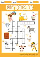 Letter D crossword template