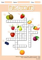 Fruits cross word concept