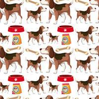 Ein Hund nahtlose Muster