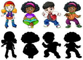 Set of different children vector