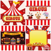 Set of circus template vector
