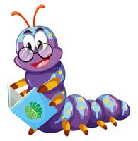 Purple caterpillar reading book