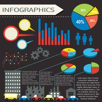 An infographics with humans and vehicles