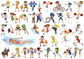 Set of sport character vector