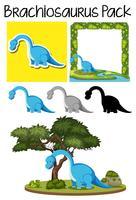 Een pakket van brachiosaurus