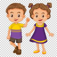 Cute children on transparent background