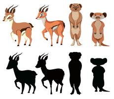 Set of exotic animal character