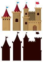 Conjunto de construção do castelo vetor