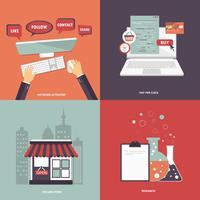 Affärs- och teknikikonen för webbplatser och mobila applikationer