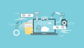 Bannière de la technologie cloud