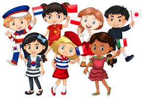 Children come from different countries