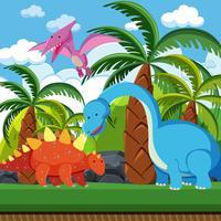 Platt dinosaur i naturen