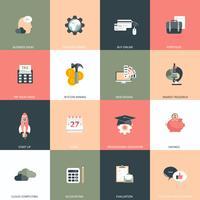 Business, Management und Finanzen-Icon-Set für Websites und mobile Anwendungen