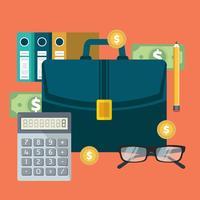 Informe financiero exitoso del plan de negocios y contabilidad.