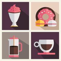 Conjunto de iconos de cafetería