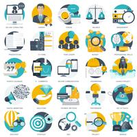 Business, technology and finances icon set for websites and mobile applications and services. vector