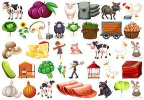 Large set of farm scene