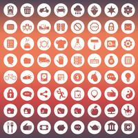 Universal icon set for websites and mobile applications