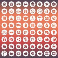 Ícone universal definido para sites e aplicativos móveis