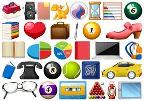 Große Auswahl an verschiedenen Objekten