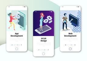 Modern UX, UI-scherm voor mobiele of responsieve website