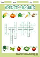 Modèle de jeu de mots croisés de légumes