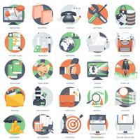 Business, technology and finances icon set for websites and mobile applications and services vector