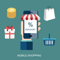 Mobile marketing and mobile shopping concept