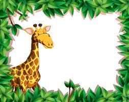 Giraffa in foglia di fondo