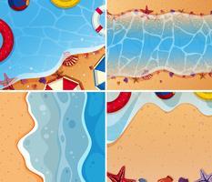 Een set van strand en zee