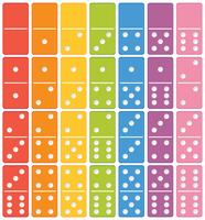 Colourful domino set element vector