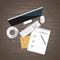 To-Do-List-Konzept. Schreibtisch mit Geschäftsausstattung
