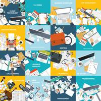 Business and technology icon set vector