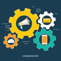 Soziales Netzwerk und Chat-Banner. Globale Kommunikation, E-Mail, Webanrufe