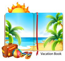Vacation on the beach theme in the book