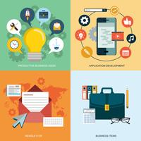 Vector collection of flat and colorful business, marketing and finance concepts