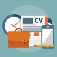 Finden Sie die richtige Person für das Jobkonzept. Einstellung und Rekrutierung neuer Mitarbeiter. Flaches Vektor-Design