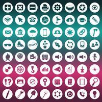 Ícone universal definido para sites e aplicativos móveis. Ilustração vetorial plana
