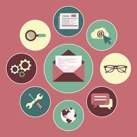 Newsletter-Vektor-Konzept