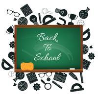 Välkommen tillbaka till skolkonceptet. Platt vektor illustration