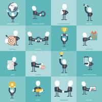 Humanressourcen und Management-Icon-Set. Business, Management und Finanzen-Icon-Set