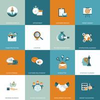 Set di icone di affari, gestione e finanze