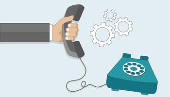 Customer support. Business customer care service concept. Contact us, support, help, phone call, website click