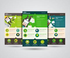Landingpage-Vektorschablone - flaches Design. Bloggen, Schreiben und Journalismus. Flache Vektor-Illustration
