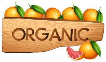Oranager och organiskt tecken
