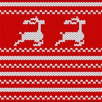 Stickad jul prydnad. Sticka julen sömlös mönster