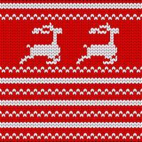Gebreide kerst ornament. Brei kerst naadloze patroon