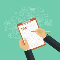 Concepto de pago de impuestos. Impuestos gubernamentales y estatales