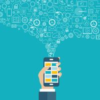 Applications mobiles et marketing mobile et concept publicitaire