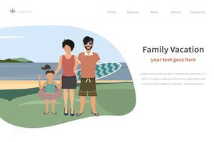 Lycklig familj sommarsemester